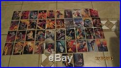 1996 Marvel Masterpieces Lot Of 40 Diff Mint Plus 2 Double Impact Chase Cards