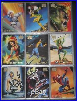 1996 Marvel Masterpieces MASTER-SET (Base, Double Impact, Gallery) Vallejo, Bell