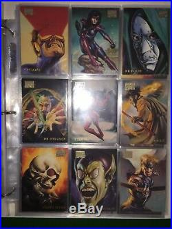 1996 Marvel Masterpieces Set Card Master Set