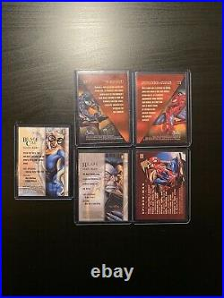 1996 Marvel Masterpieces Trading Cards 45 CARD LOT BASE NM/MINT Fleer RARE