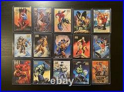 1996 Marvel Masterpieces Trading Cards COMPLETE BASE SET, #1-100 NM/M Fleer