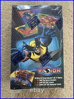 1996 Marvel Vision Embossed Trading Cards SEALED BOX 48 Packs! Fleer/SkyBox