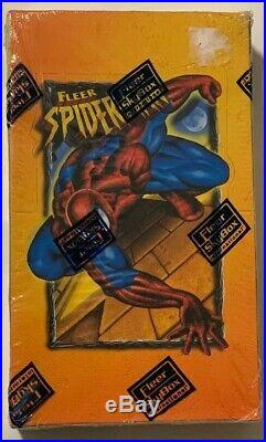 1997 Fleer Marvel Comics Spider-Man Collector Trading Cards Box Factory Sealed