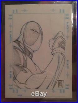 1998 Marvel Creators Collection Deadpool Walter Mcdaniel Sketchagraph Card