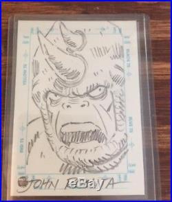 1998 Marvel Silver Age RHINO Sketchagraph, by JOHN ROMITA SR. NM/M