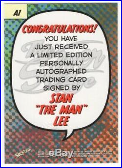 1998 Skybox Marvel Silver Age Autograph Series Stan Lee Signed Auto Card #A1