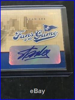 2004 World Series Donruss Stan Lee Autograph Fans Of The Game Card Marvel Comics
