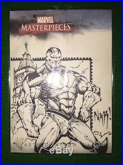 2007 Marvel Masterpieces Nar Sketch Card Julio Naranjo Sketch Card