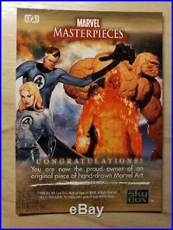 2008 Marvel Masterpieces Blank Sketch Card rare
