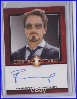 2008 Robert Downey Jr Rittenhouse Auto Autograph Signed Card Marvel Iron Man