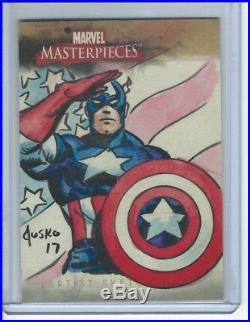 2008 Upper Deck Marvel Masterpieces Captain America SKETCH by Joe Jusko #1/1 AP