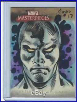 2008 Upper Deck Marvel Masterpieces Silver Surfer SKETCH by Joe Jusko #1/1 AP