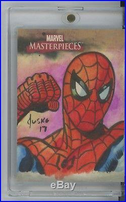 2008 Upper Deck Marvel Masterpieces Spider-Man SKETCH by Joe Jusko #1/1 AP