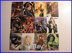 2008 Women of Marvel 1 Master Set Base, Embrace, Embossed & Swimsuit Chase
