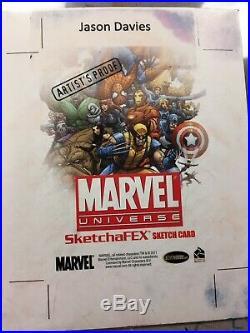 2011 Marvel Universe CAPTAIN MARVEL-JASON DAVIES Artist Proof sketch card