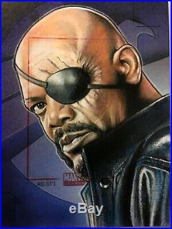 2011 Marvel Universe NICK FURY-JASON DAVIES Artist Proof sketch card