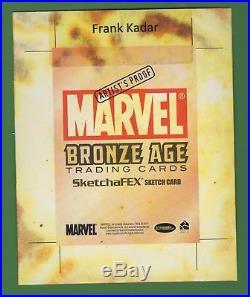 2011 Rittenhouse Marvel Bronze Age FRANK KADAR Artist Proof Ghost Rider Sketch