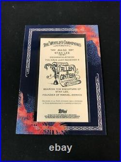 2011 Topps Allen & Ginter Framed Blue Ink Auto STAN LEE Marvel Fame SC2A