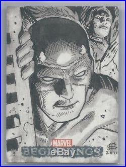 2011 Ud Marvel Beginnings Series 1 Jim Cheung Sketch Card Of Daredevil Rare