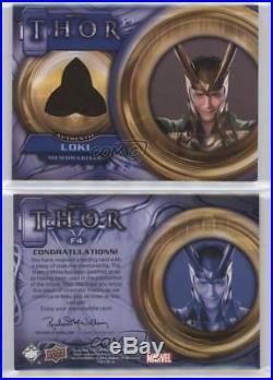 2011 Upper Deck Marvel Thor The Movie Costume Memorabilia #F4 Loki Card 0c3