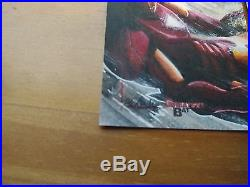 2012 Marvel Greatest Battles Glebe 1 of 1 Sketch Card RARE WOW! Hulk vs Ironman