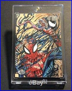 2012 Marvel Premiere Spider-Man / Venom Sketch Card 1/1 Artist Proof Ray Racho