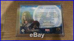 2012 Upper Deck Marvel Avengers Chris Hemsworth Thor Autograph