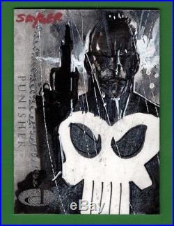 2012 Upper Deck Marvel Premier STUART SAYGER Punisher Sketch Card