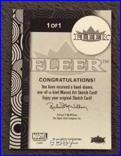 2013 Fleer Marvel Retro Optic Nerve SCARLET WITCH Sketch Comic Art Card