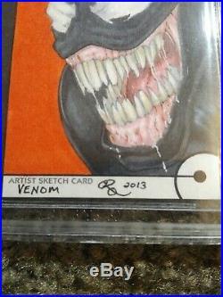 2013 Fleer Retro Marvel Sketch Card Rihanna Owens Venom sketch