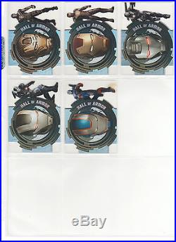 2013 Iron Man 3 Movie Marvel Upper Deck Hall Of Armor Acetate Set 22 Cards Htf