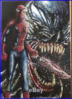 2013 Marvel Fleer Retro Sketch Spider-Man By Matt Glebe