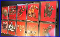 2013 Marvel Retro 10 PMG RED LOT Deadpool, Spider-Man, Thor, Thing -RARE