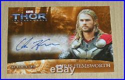 2013 Upper Deck Marvel THOR 2 Dark Mater autograph Chris Hemsworth THOR