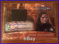 2013 Upper Deck Marvel THOR 2 Dark Mater autograph wardrobe Jaimie Alexander SIF
