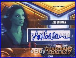 2014 Marvel Guardians of the Galaxy Autograph Card ZS Zoe Saldana
