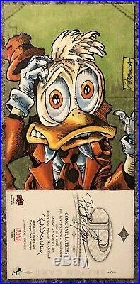 2014 Marvel Premier 1/1 3 Panel Sketch Forbush Man, Howard The Duck By Petrecca