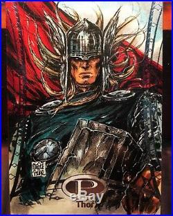 2014 Marvel Premier Thor Sketch By Melike Acar