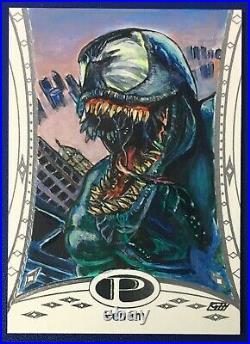 2014 Marvel Premier Venom Sketch Card by Gavin Hunt 1/1 Spider-Man Villain