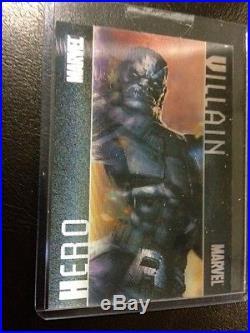 2014 Marvel Universe 2 Master Set Saphire Shadowbox Heroes Origins Promo Case