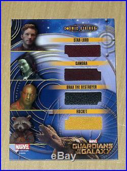 2014 UD Marvel Guardians Galaxy cosmic 9x wardrobe memorabilia GOTG super rare