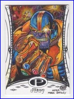 2014 Upper Deck UD Marvel Premier Artist Sketch Card Thanos by Gavin Hunt