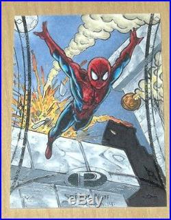 2014 Upper Deck UD Marvel Premier sketch card Tony Perna Spider-man #24 /10