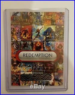 2015 (2016) Marvel Masterpieces Uncut Sheet Redemption Card UN-1 Joe Jusko