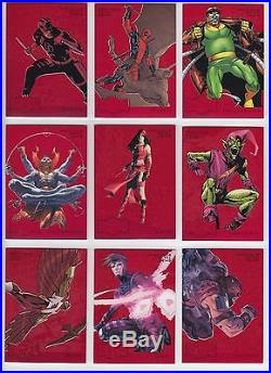 2015 Fleer Marvel Retro 1995 Metal Blaster PMG RED Precious Metal Set NM/M