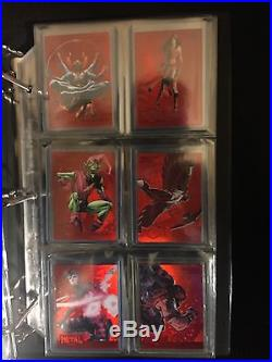 2015 Fleer Marvel Retro 1995 PMG RED GEMS Precious Metal Gems Set (8) 1/100