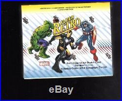 2015 Fleer Retro Marvel Treading cards sealed Hobby Box