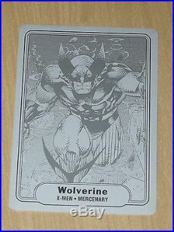 2015 Marvel Fleer Retro BLACK print printing plate WOLVERINE 1982 Fleer #4 1/1