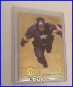 2015 Marvel Fleer Retro Gold Precious Metal Gems PMG Captain America 1/1