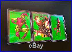 2015 Marvel Retro 3 PMG GREEN RARE CARD LOT 1995 Metal Blasters